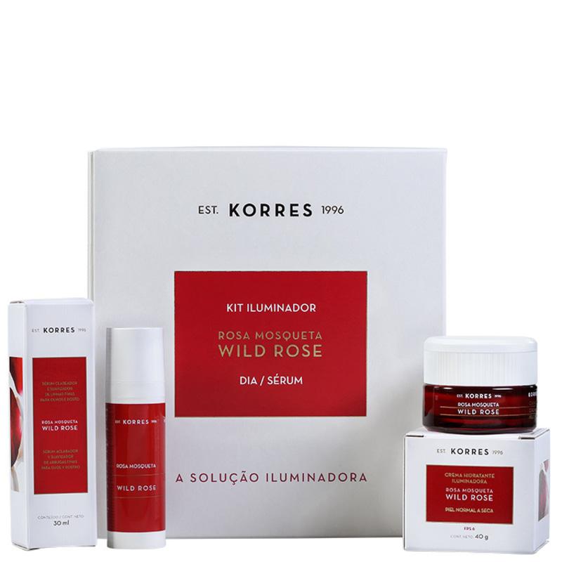 Kit Korres Wild Rose Pele Normal a Seca (2 produtos)