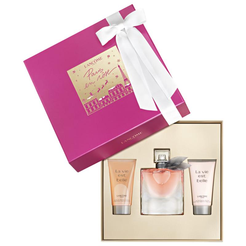 Conjunto La Vie Est Belle Lancôme Feminino - Eau de Parfum 50ml + Gel de Banho 50ml + Loção Corporal 50ml
