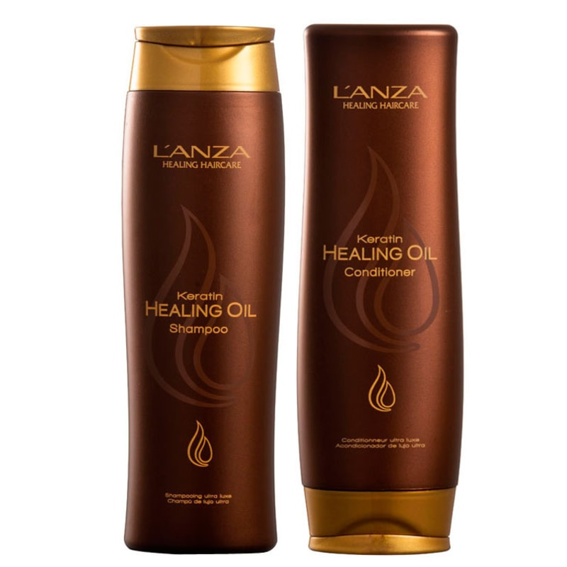 L'Anza Keratin Healing Oil Duo Kit (2 Produtos)