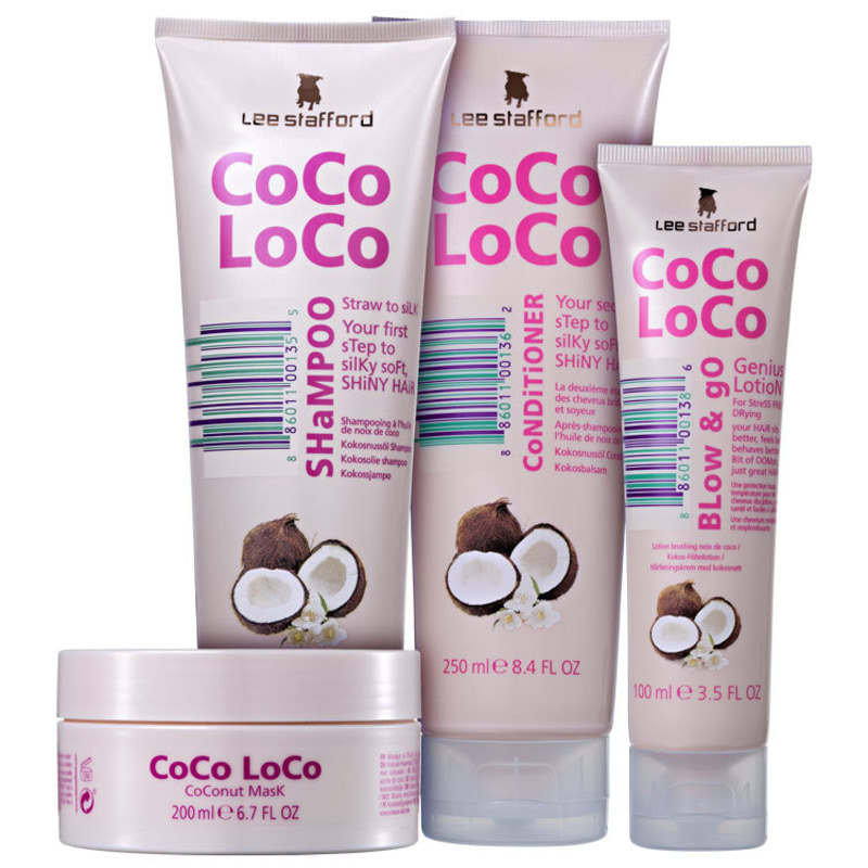 Lee Stafford Coco Loco Complete Kit (4 Produtos)