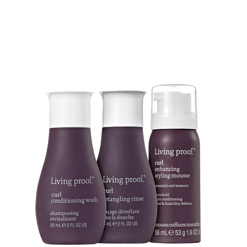Kit Living Proof Curl Mousse Travel (3 Produtos)