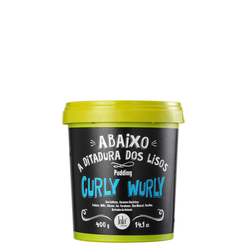 Lola Cosmetics Curly Wurly Pudding - Máscara sem Enxágue 400g
