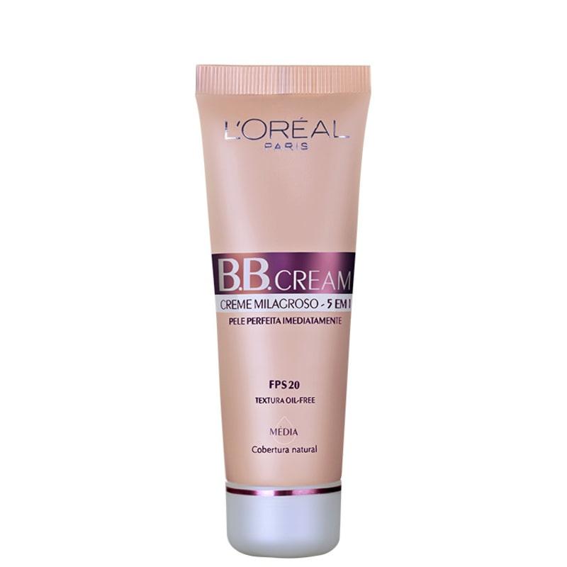 L'Oréal Paris Creme 5 em 1 FPS 20 Médio - BB Cream 50ml