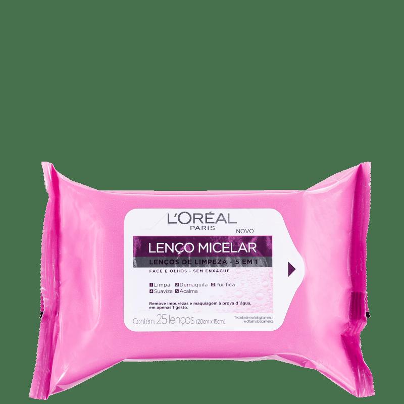 L'Oréal Paris Dermo Expertise Lenço Micelar 5 Em 1 - Lenço Demaquilante (25 unidades)