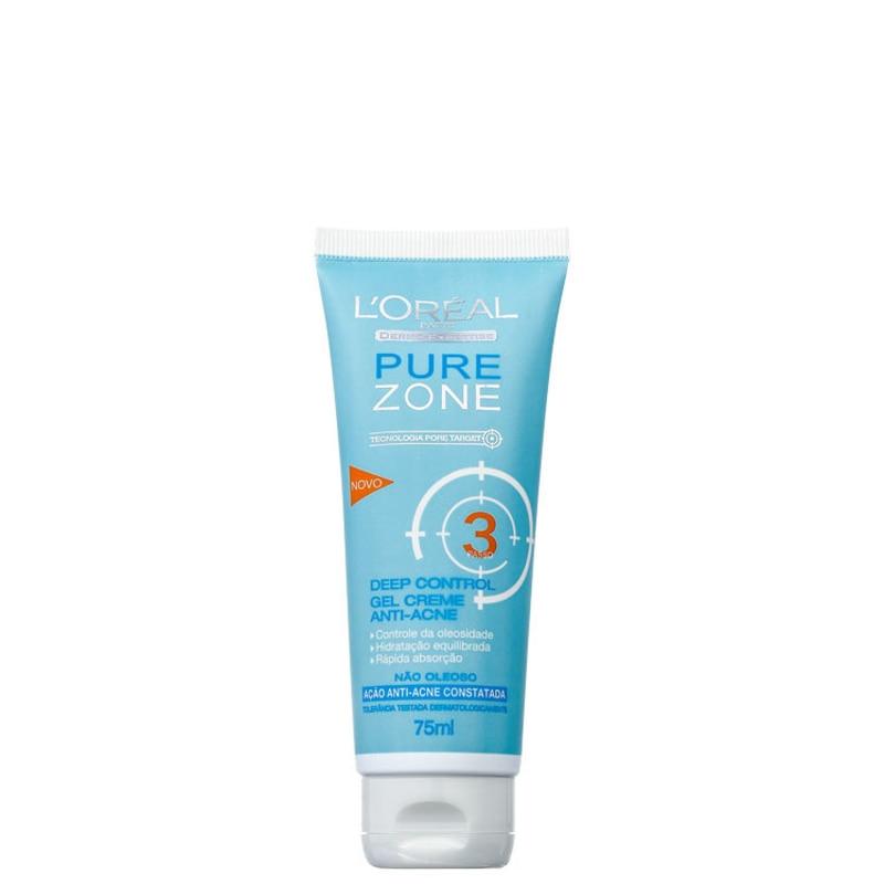 L'Oréal Paris Dermo-Expertise Pure Zone Deep Control Gel Creme – Hidratante Antiacne 75ml