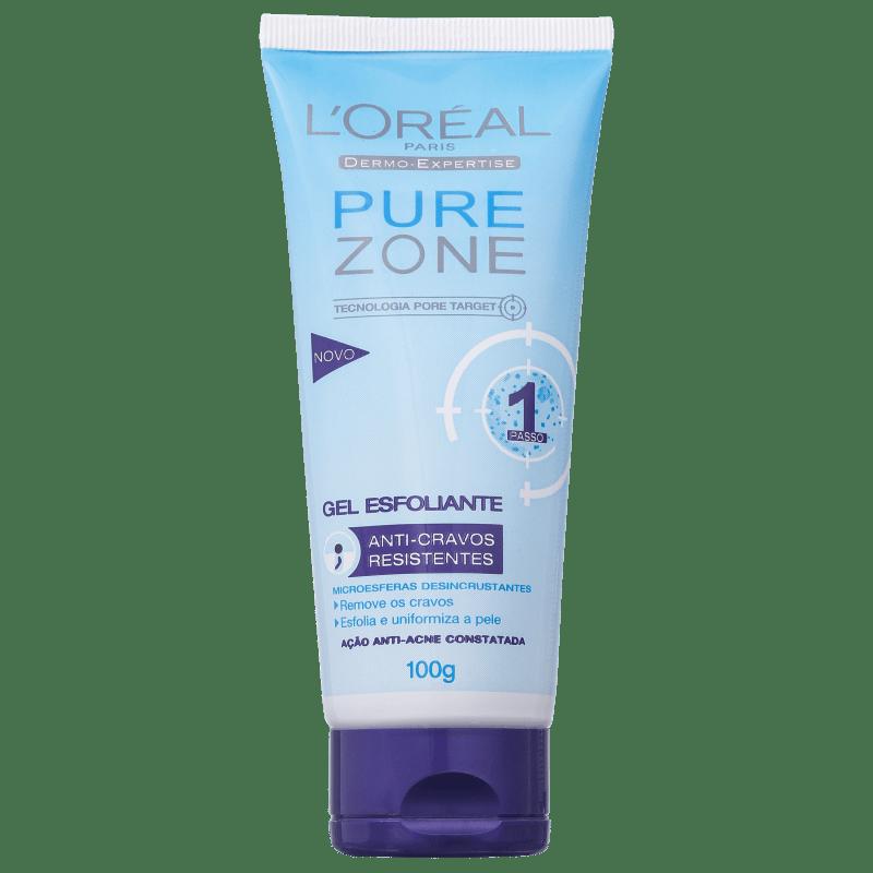 L'Oréal Paris Pure Zone Anti-Cravos Resistentes - Gel Esfoliante Facial 100g