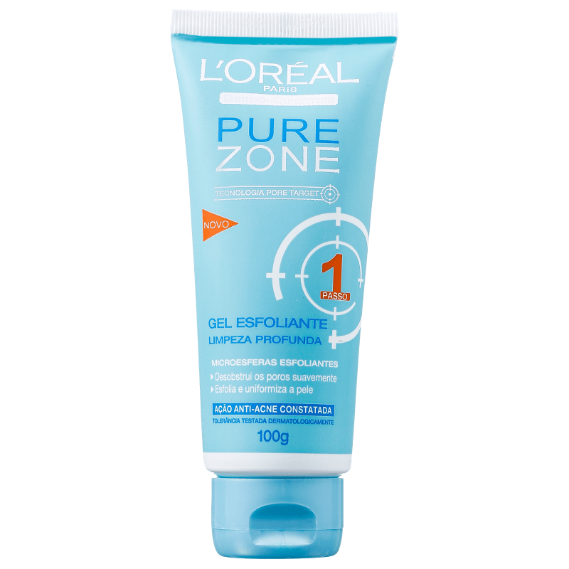 L'Oréal Paris Pure Zone Limpeza Profunda - Gel Esfoliante Facial 100g