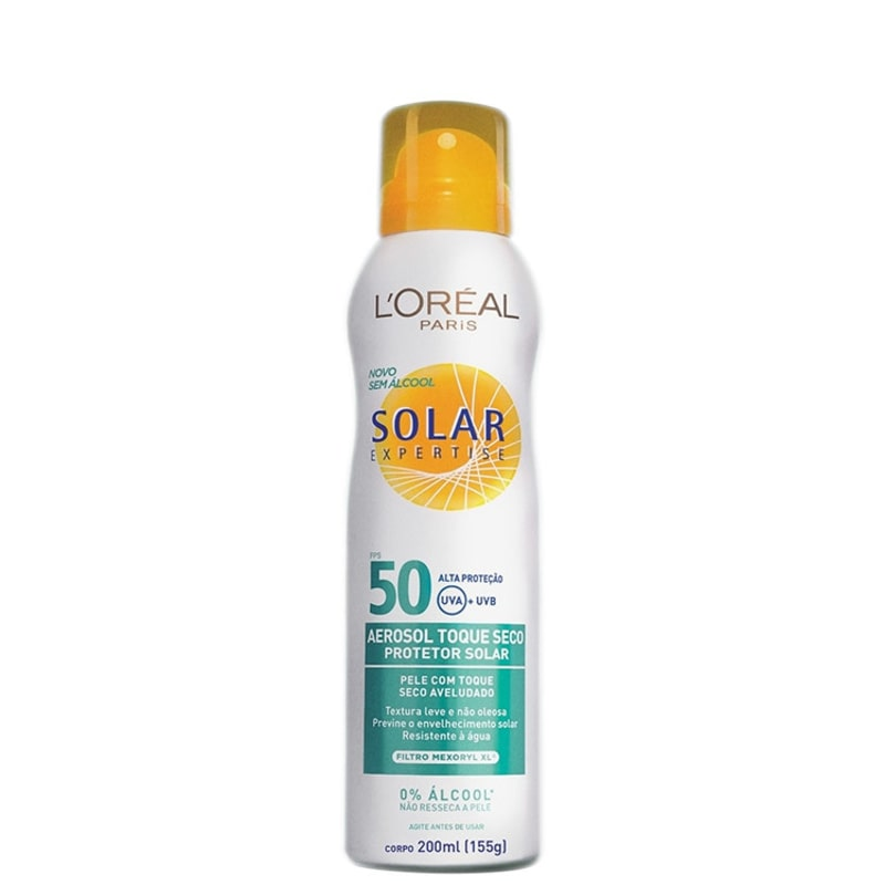 L'Oréal Paris Solar Expertise Toque Seco FPS 50 - Protetor Solar em Spray 200ml
