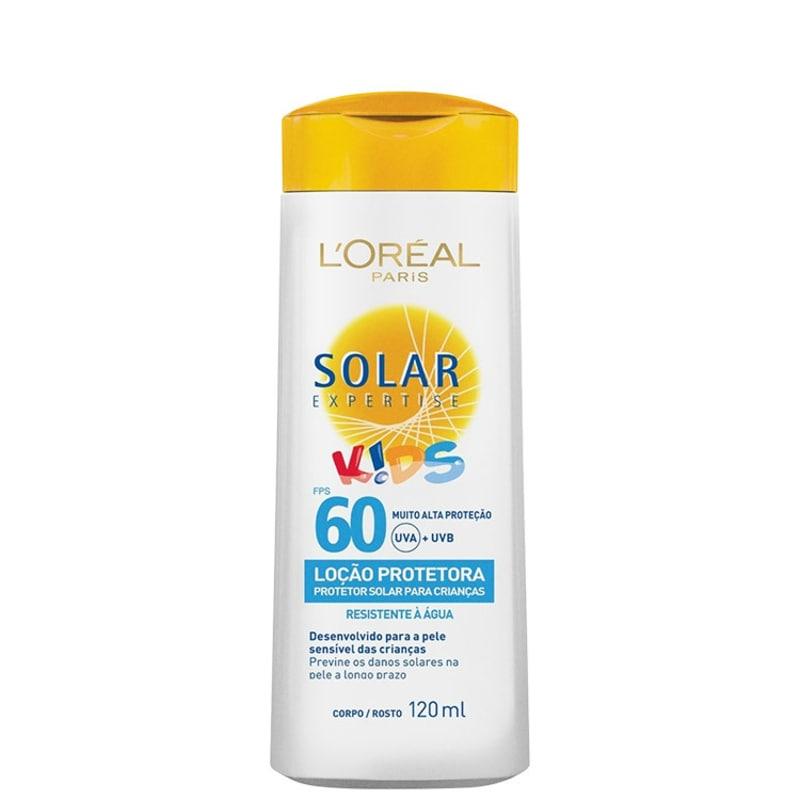 L'Oréal Paris Solar Expertise Kids Loção Protetora FPS 60 - Protetor Solar Infantil Facial 120ml