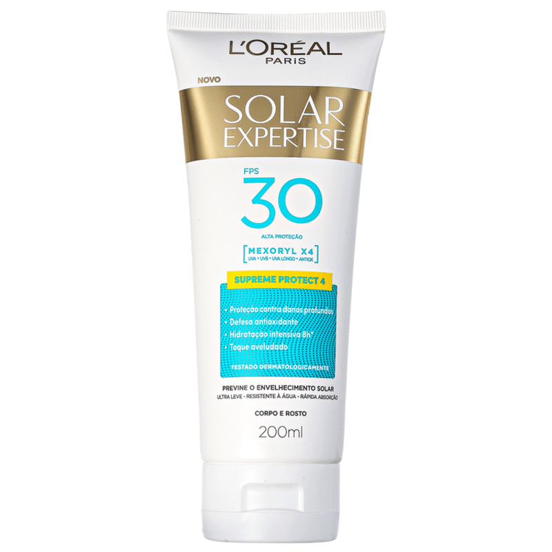 L'Oréal Paris Solar Expertise Supreme Protect 4 FPS 30 - Protetor Solar Facial 200ml