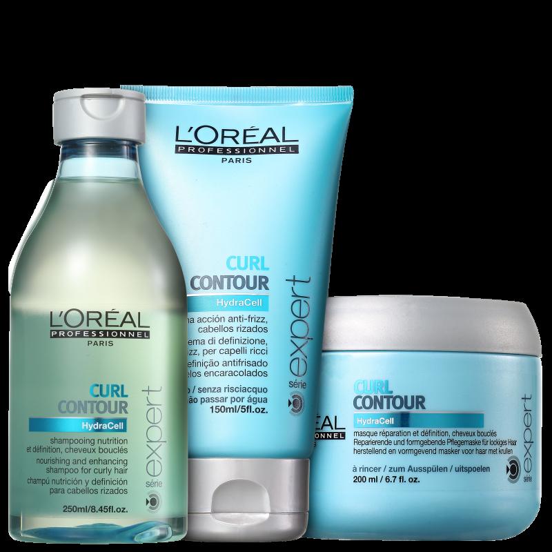 Kit L'Oréal Professionnel Expert Curl Contour Cachos Intensos (3 Produtos)