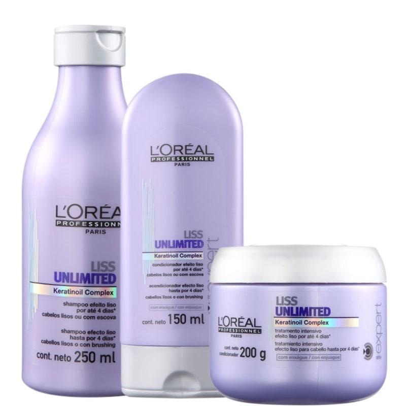 L'Oréal Professionnel Liss Unlimted Trio Kit (3 Produtos)