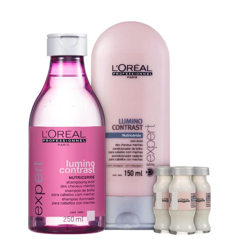 Kit L'Oréal Professionnel Expert Lumino Contrast Color Repair (3 Produtos)