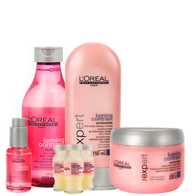 L'Oréal Professionnel Lumino Contrast Intensive Treatment Kit (5 Produtos)