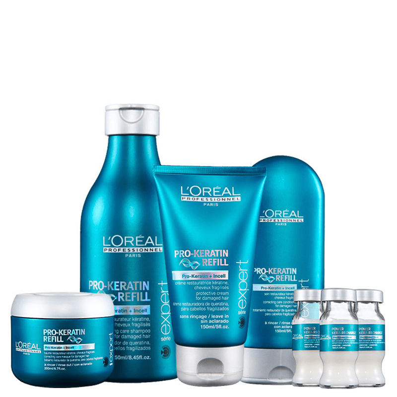 L'Oréal Professionnel Pro-Keratin Refill Power Treatment Kit (5 Produtos)