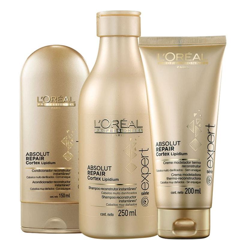 Kit L'Oréal Professionnel Expert Absolut Repair Cortex Lipidium Blow-Dry (3 Produtos)