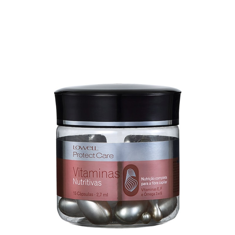 Lowell Protect Care Vitaminas Nutritivas - Cápsulas de Tratamento 15x2,7ml