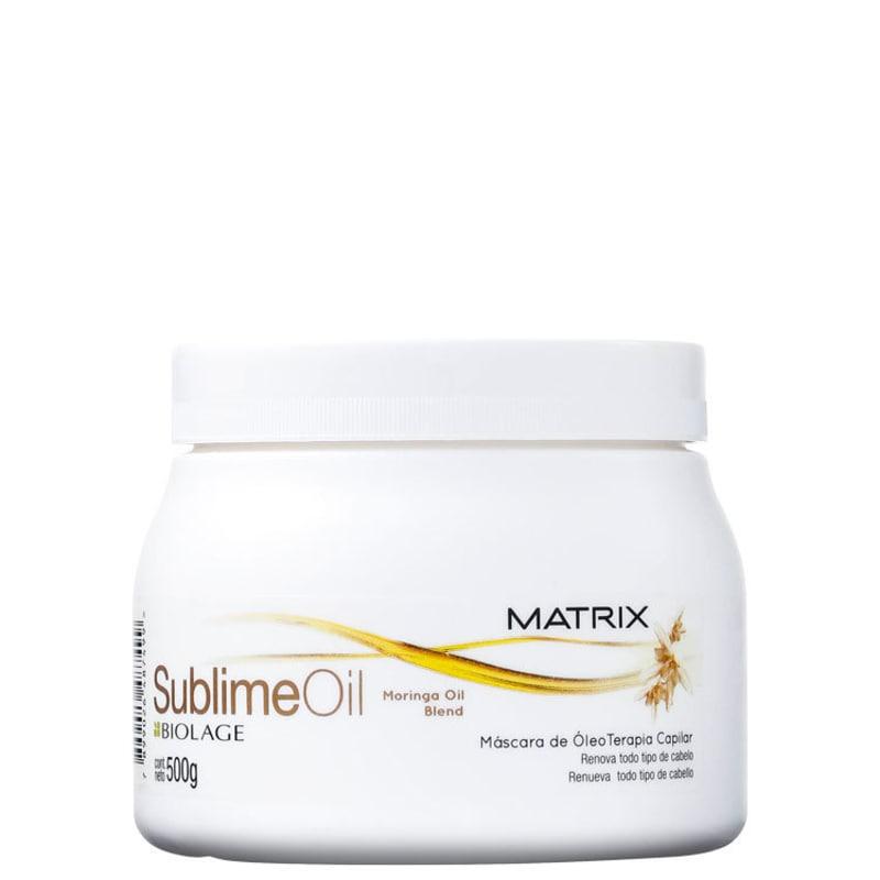 Matrix Biolage Sublime Oil Máscara de Óleo Terapia - Tratamento 500g