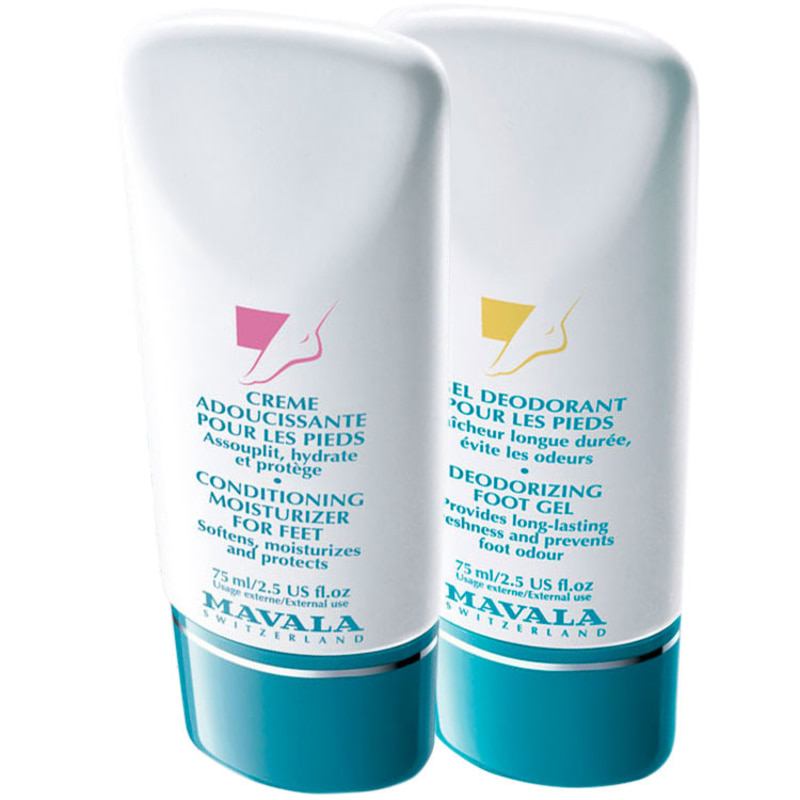 Mavala Deodorizing Foot Gel e Conditionning Moisturizer for Feet (2 Produtos)