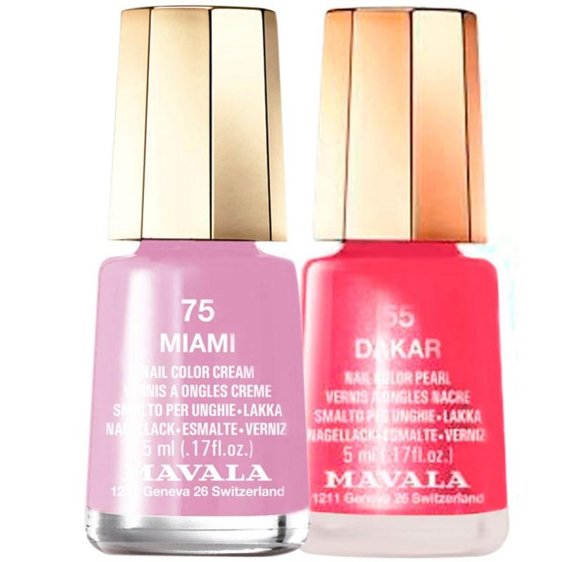 Kit Mavala Mini Colours Miami e Dakar de Esmaltes (2 produtos)