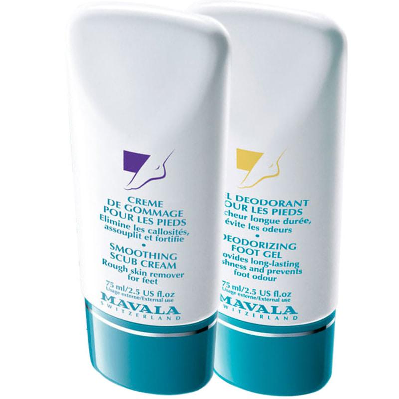 Kit Mavala Scrub Cream & Moisturizer para os Pés - Esfoliante 75ml + Desodorante 75ml