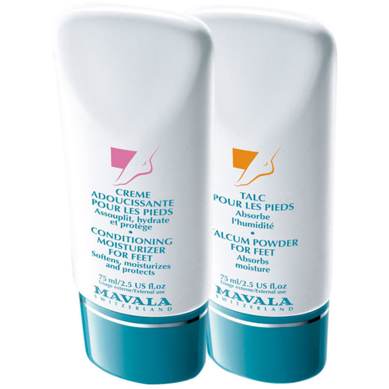 Mavala Talcum Powder for Feet e Desodorizing Foot Gel Kit (2 Produtos)
