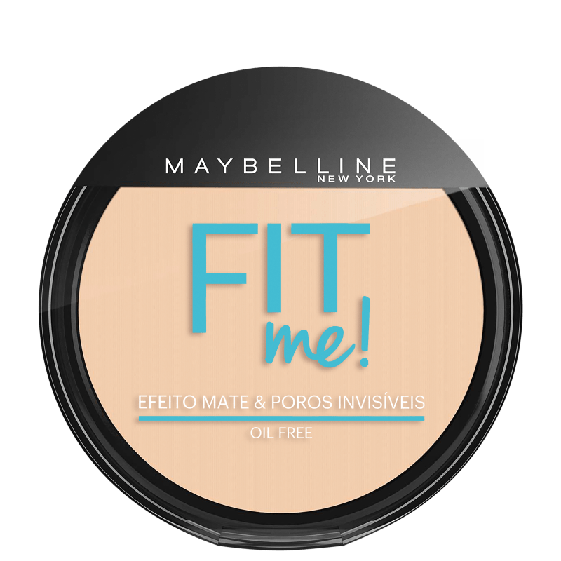 Maybelline Fit Me! Cor Claro Sutil 100 - Pó Compacto Natural