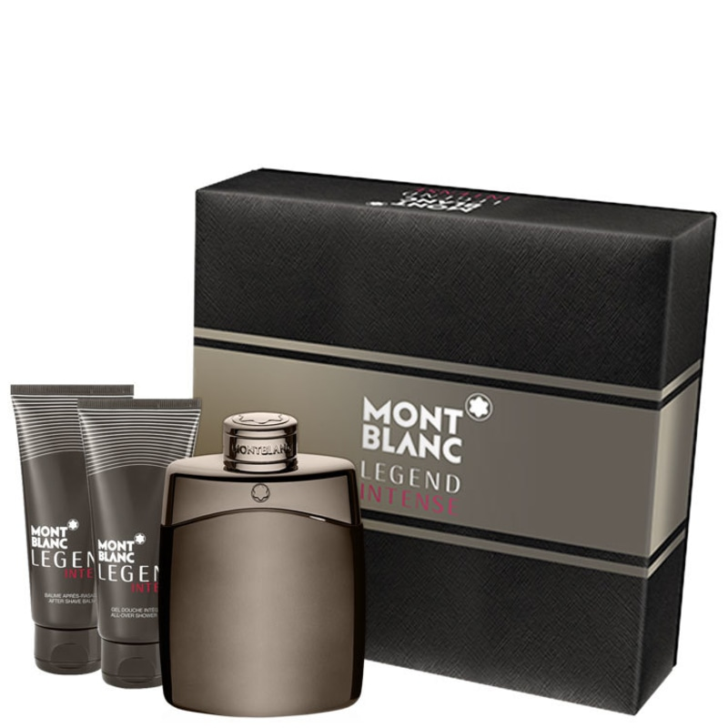 Conjunto Legend Intense Montblanc Masculino - Eau de Toilette 100ml + Gel de Banho 100ml + Pós-Barba 100ml