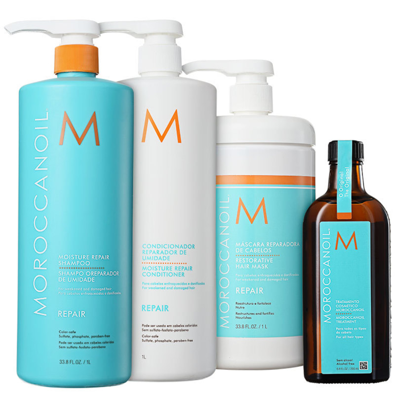Kit Moroccanoil Repair Moisture Treatment (4 Produtos)