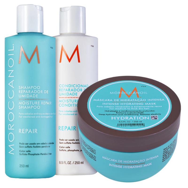Moroccanoil Repair Hydrating Mask Kit (3 Produtos)