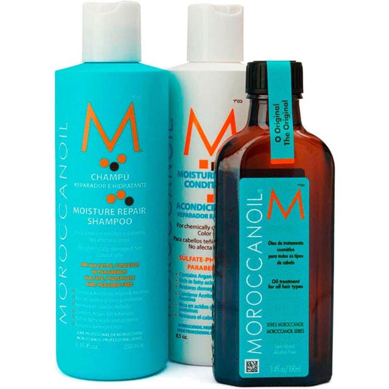 Moroccanoil Repair Oil Treatment Kit (3 Produtos)