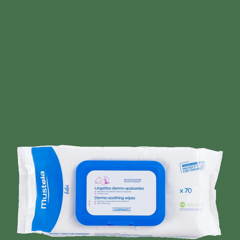 Mustela Bébé Lingettes Dermo-Apaisantes - Lenços de Limpeza (70 unidades)