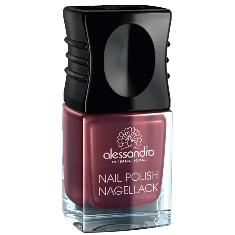 Alessandro International Nail Polish Dark Rubin - Esmalte Cintilante 10ml