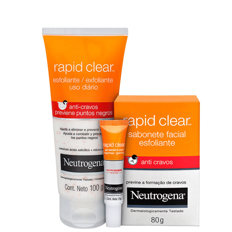 Kit Neutrogena Rapid Clear Trio (3 produtos)