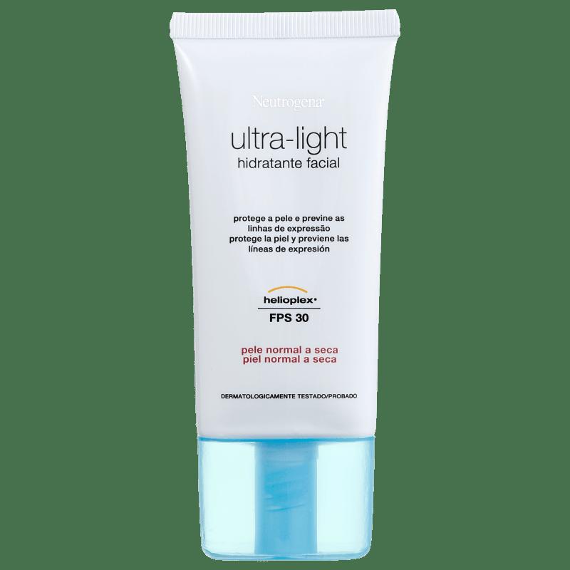 Neutrogena Ultra-Light Pele Normal à Seca FPS 30 - Hidratante Facial 55g