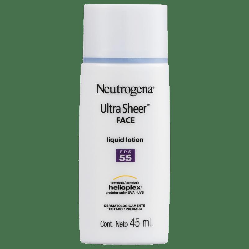Neutrogena Ultra Sheer Liquid Lotion FPS 55 - Protetor Solar Facial 45ml