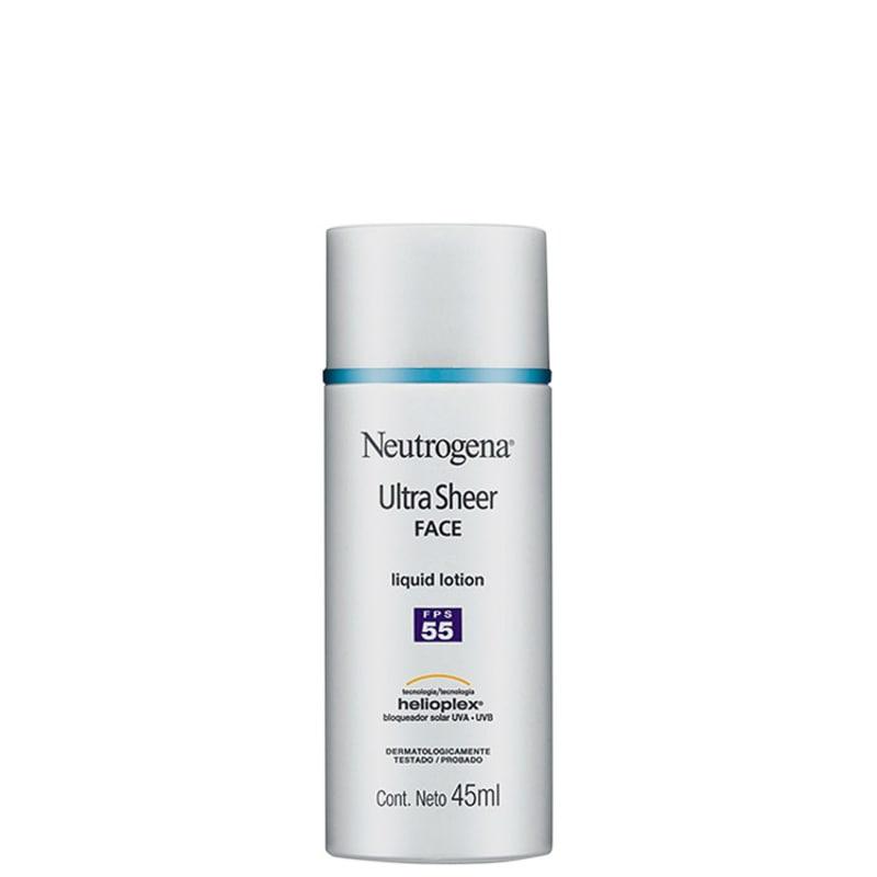 Neutrogena Ultra Sheer Liquid Lotion FPS 55 - Protetor Solar Facial em Loção 45ml