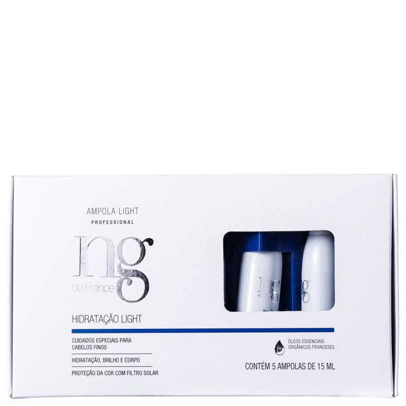 NG de France Light - Ampola de Hidratação 5x15ml