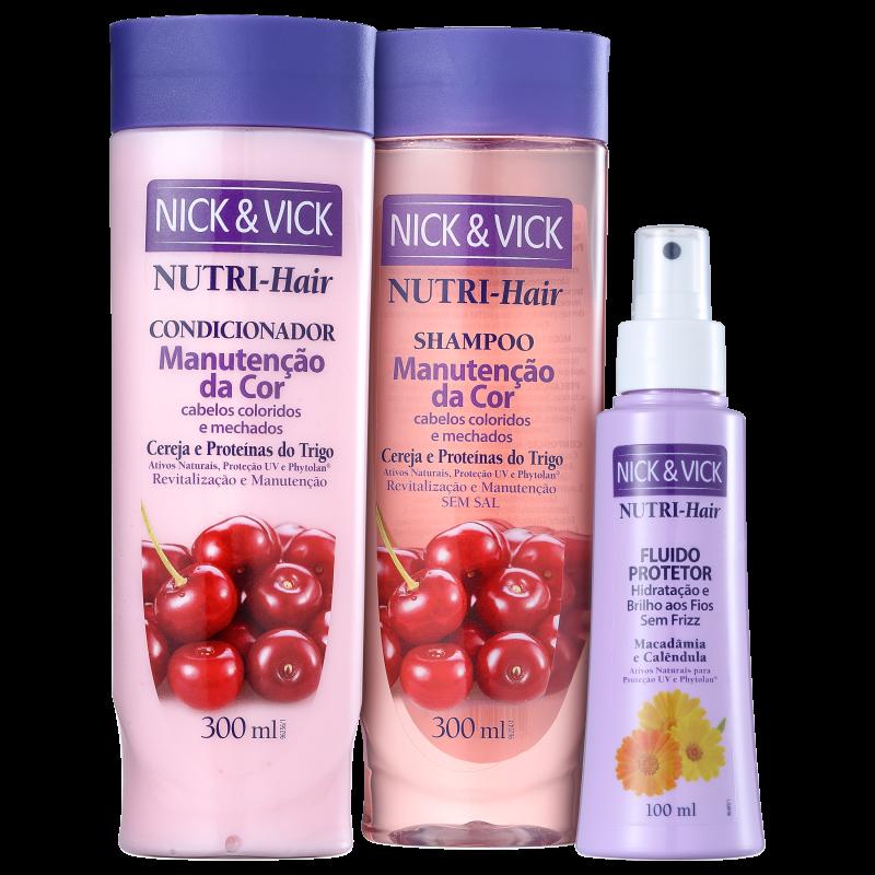 Kit Nick & Vick NUTRI-Hair Cor e Proteção (3 Produtos)