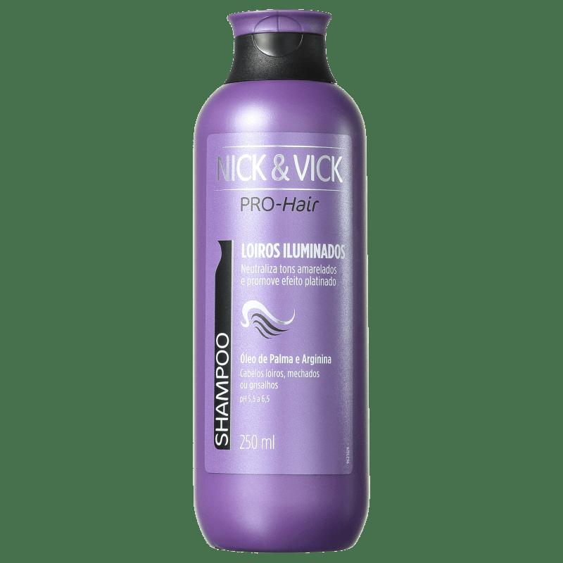 Nick & Vick PRO-Hair Revitalização Intensa Cabelo Loiro - Shampoo Desamarelador 250ml