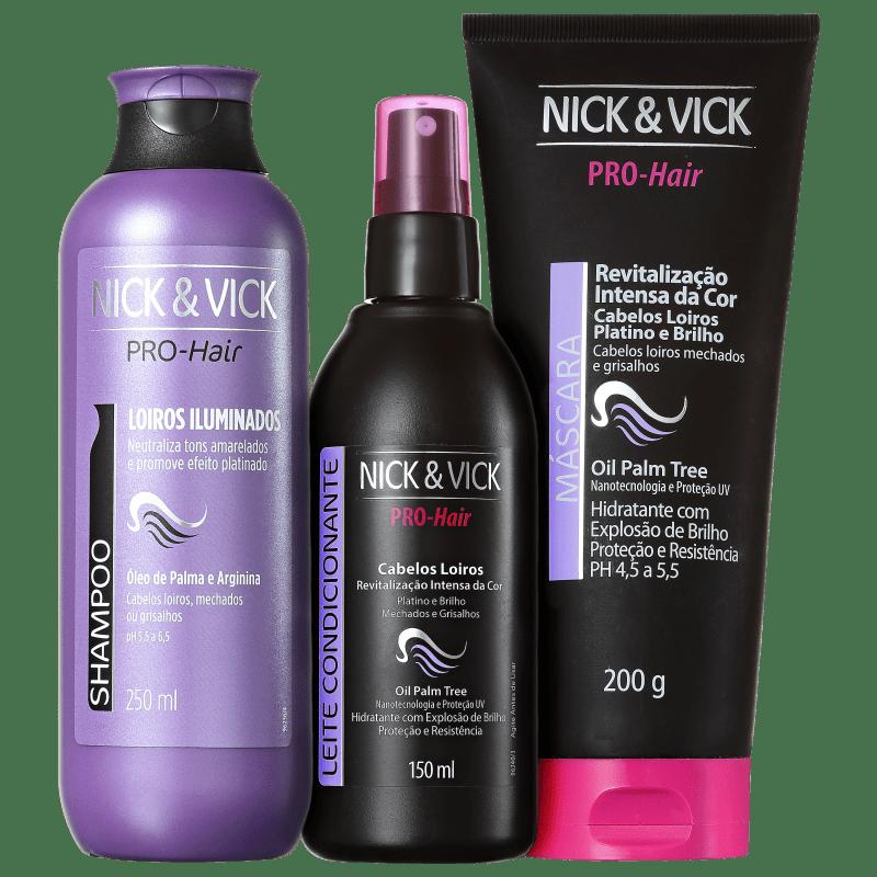 Kit Nick & Vick PRO-Hair Revitalização Intensa Loiro Platinado (3 Produtos)