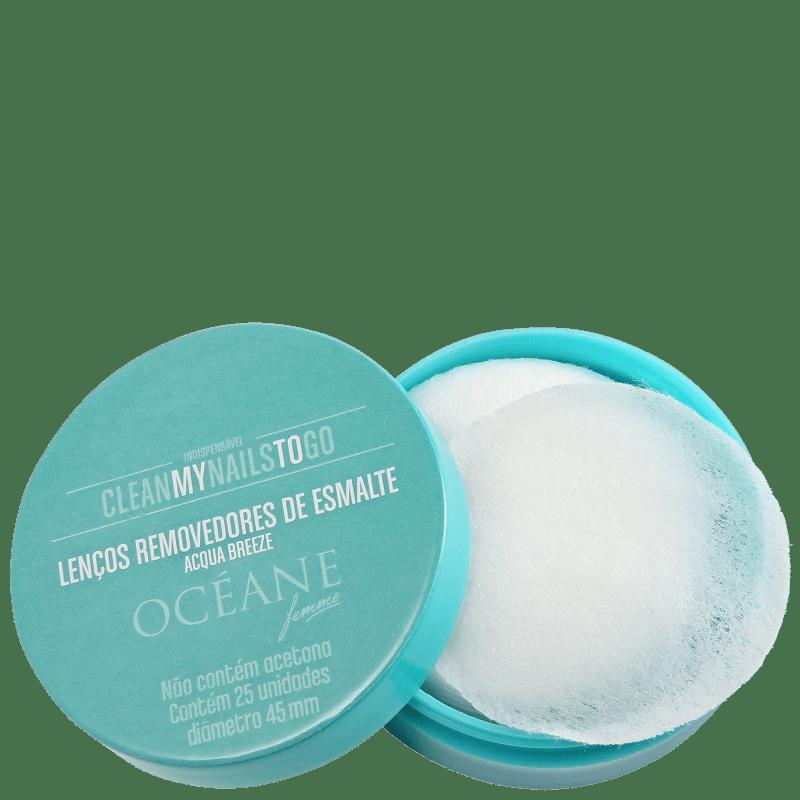 Océane Femme Clean My Nails To Go Acqua Breeze - Lenço Removedor de Esmalte (25 unidades)