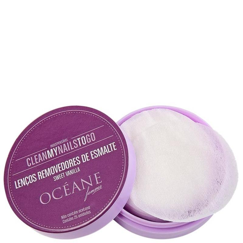 Océane Femme Clean My Nails To Go Sweet Vanilla - Lenço Removedor de Esmalte (25 unidades)