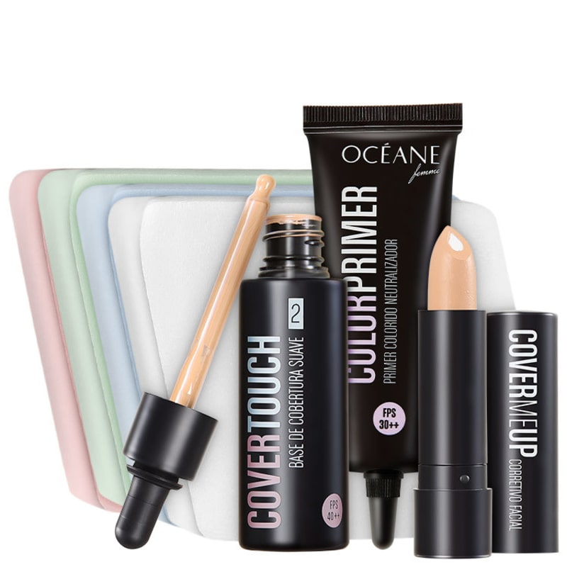 Kit Océane Femme Cover Touch 2 Purple Primer (4 produtos)