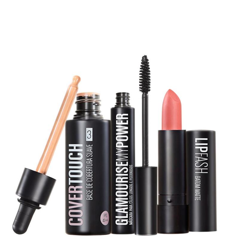 Kit Océane Femme Cover Touch 3 Glamourise Lip Fash Gorgeous Nut (3 produtos)