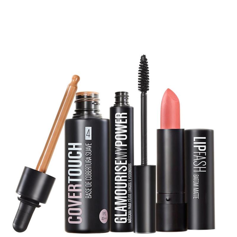 Kit Océane Femme Cover Touch 4 Glamourise Lip Fash Gorgeous Nut (3 produtos)
