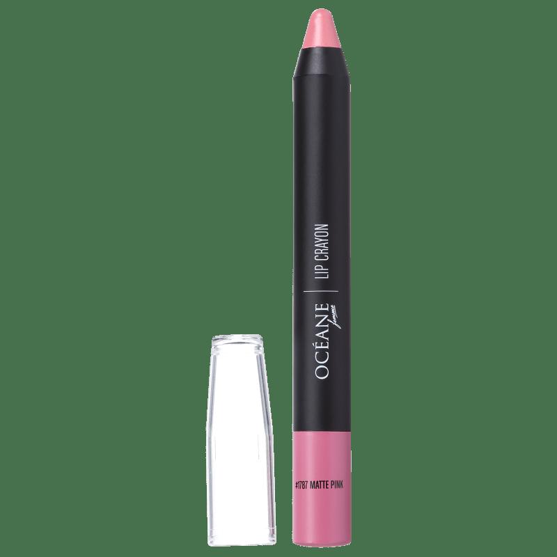 Lip Crayon Colour My Lips Matte Pink - Batom Matte 3g