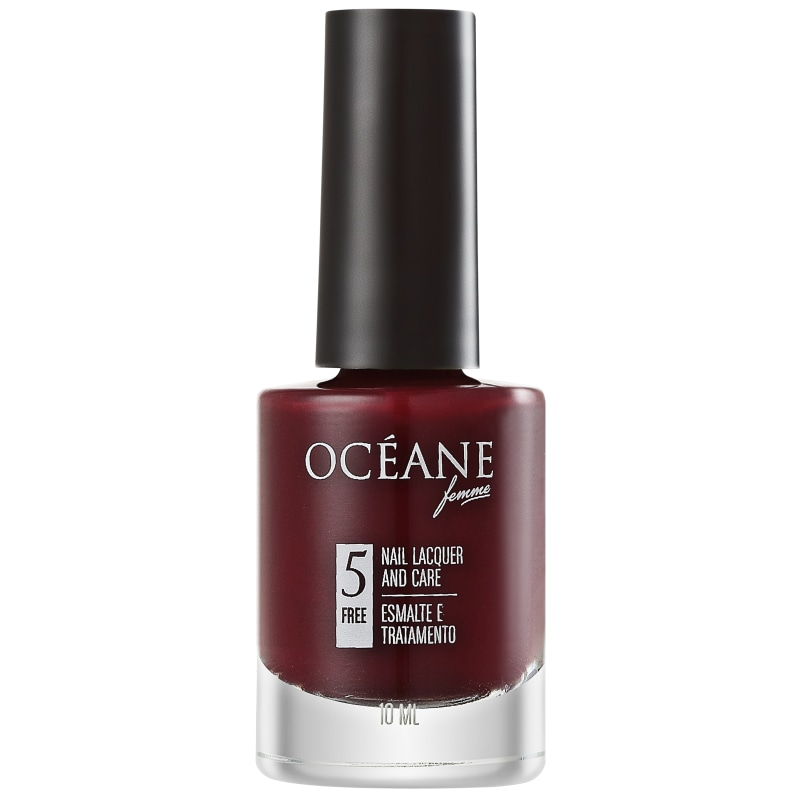 Océane Femme Nail Lacquer And Care Merlot - Esmalte Cremoso 10ml