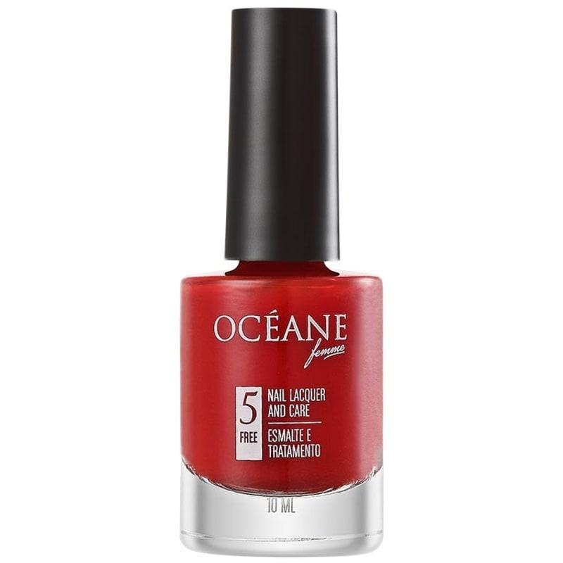 Océane Femme Nail Lacquer And Care Red Valetine - Esmalte Cremoso 10ml