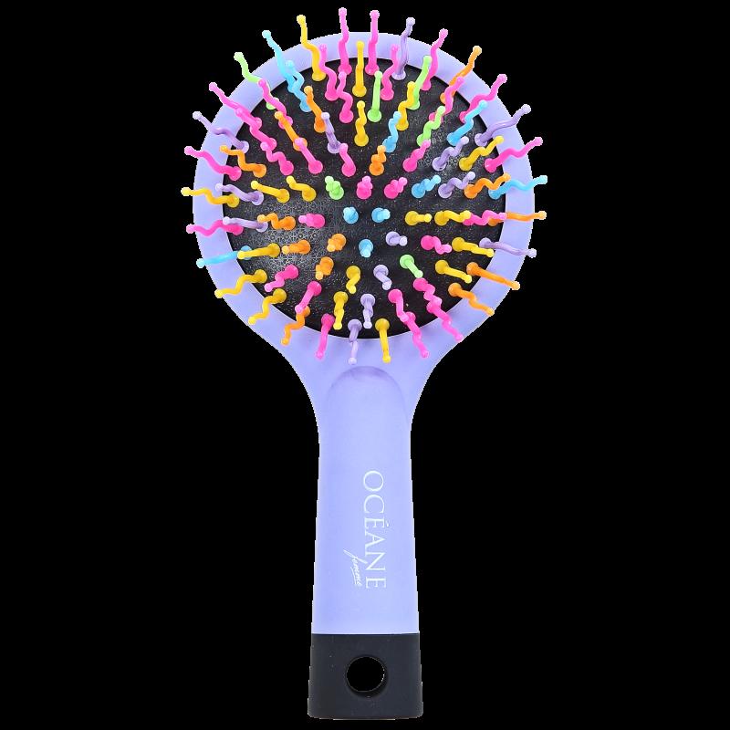 Océane Femme Rainbow Brush Lilás - Mini Escova de Cabelo